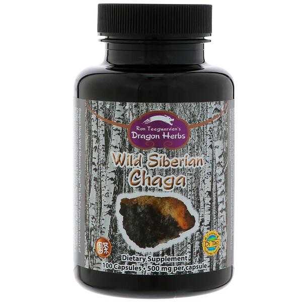 Dragon Herbs, Wild Siberian Chaga, 500 mg, 100 Capsules