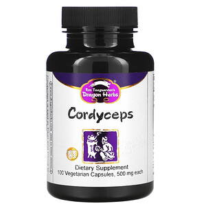 Драгон Хербс, Cordyceps, 500 mg, 100 Vegetarian Capsules отзывы