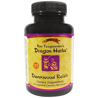 Dragon Herbs, Duanwood Reishi, 450 mg, 100 Veggie Caps