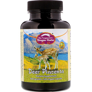 Dragon Herbs, Deer Placenta, 500 mg, 60 Capsules