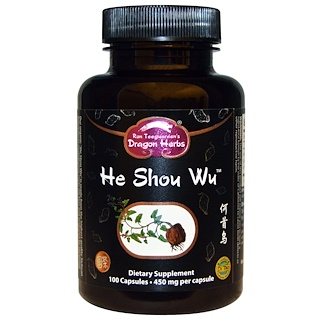 Dragon Herbs, He Shou Wu, 450 mg, 100カプセル