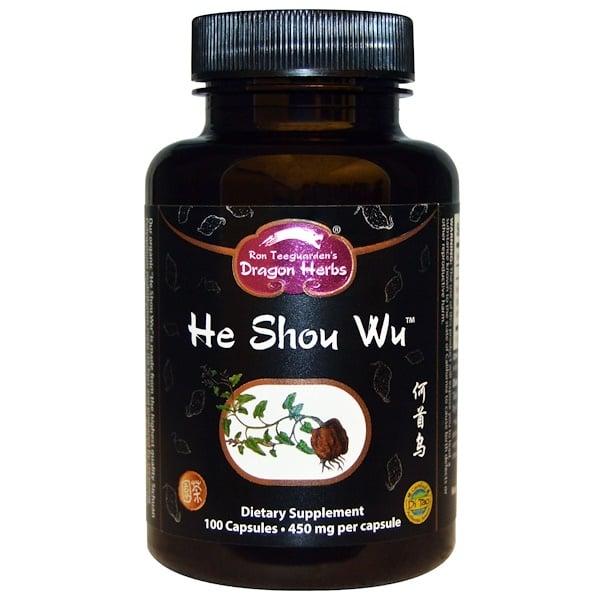 Dragon Herbs, He Shou Wu, 450 mg, 100 Capsules