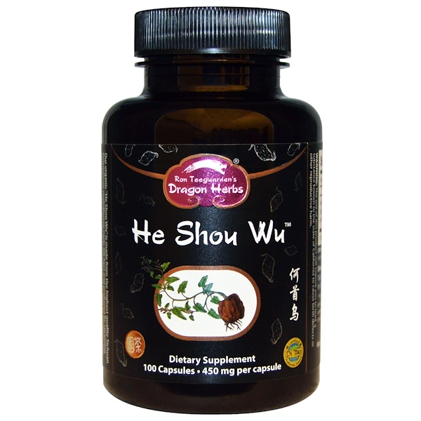 Dragon Herbs, He Shou Wu, 450 mg, 100 Cápsulas