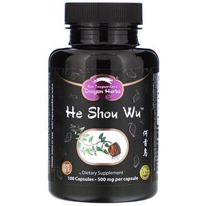 Драгон Хербс, He Shou Wu, 500 mg, 100 Capsules отзывы
