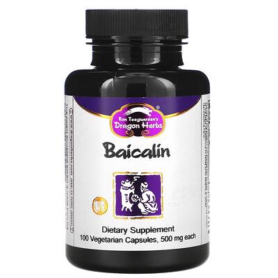 Dragon Herbs Baicalin, 500 mg, 100 Vegetarian Capsules