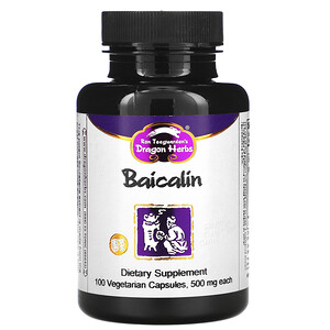 Драгон Хербс, Baicalin, 500 mg, 100 Vegetarian Capsules отзывы
