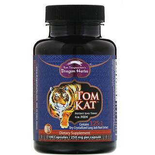 Dragon Herbs, Tom Kat, Potent Jing Tonic For Men, 250 mg, 100 Capsules
