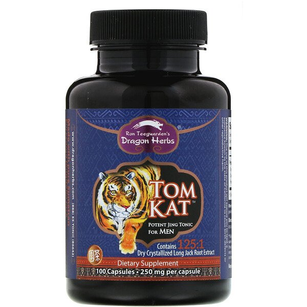Tom Kat, Potent Jing Tonic For Men, 250 mg, 100 Capsules