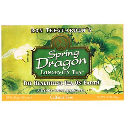 Dragon Herbs Spring Dragon Longevity Tea, без кофеина, 20 чайных пакетиков, 1,8 унции (50 г)