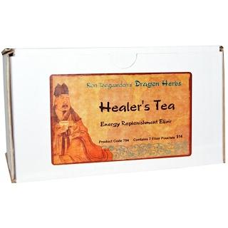 Dragon Herbs, 힐러스 티, 에너지 보충 엘릭시르제, 7개 파우치