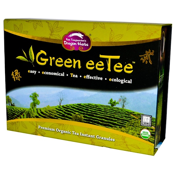 Dragon Herbs, Green eeTee, 30 Stick Packets, 1.6 g Each (Discontinued Item)