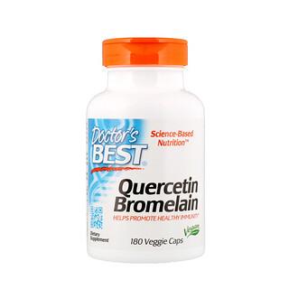 Doctor's Best, Quercétine bromelaïne, 180gélules végétariennes