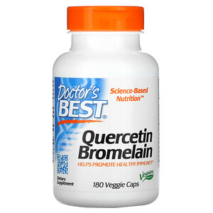 Докторс Бэст, Quercetin Bromelain, 180 Veggie Caps отзывы покупателей