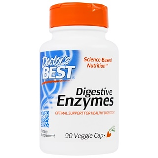Doctor's Best, Digestive Enzymes, 90 Veggie Caps