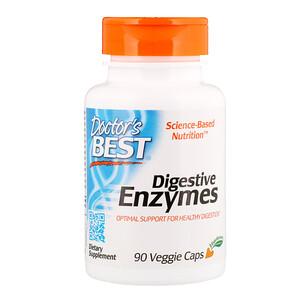 Doctor's Best, ベスト 消化酵素, オールベジタリアン, 90 ベジタブルカプセル