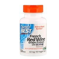 Экстракт французского красного винограда, 60 мг, 90 растительных капсул - фото