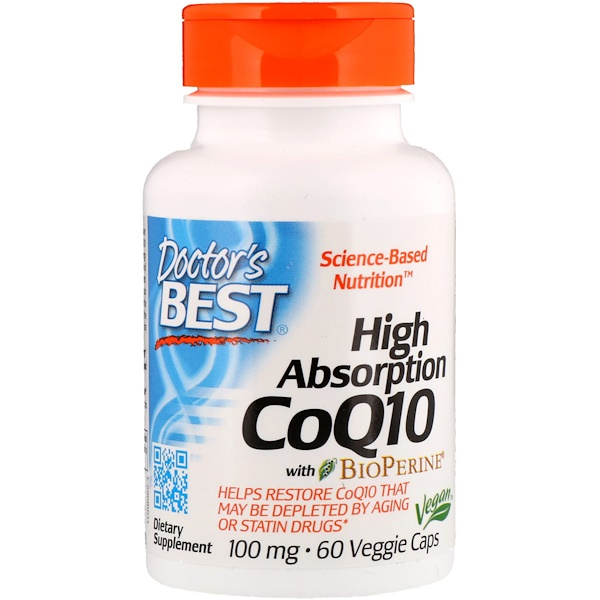 High Absorption CoQ10 with BioPerine, 100 mg, 60 Veggie Caps