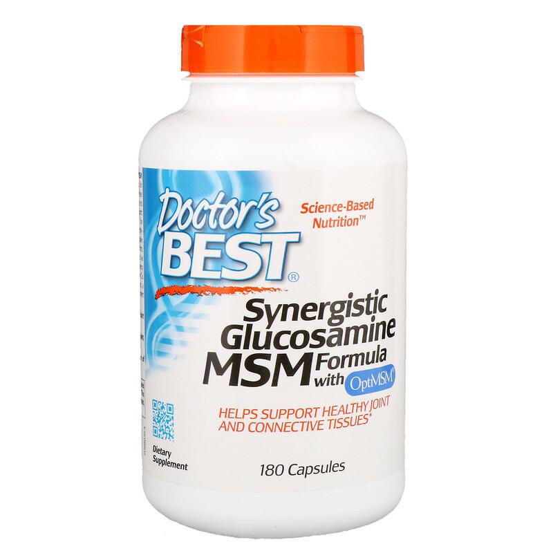 Synergistic Glucosamine MSM Formula, with OptiMSM,  , 180 Capsules