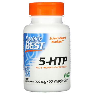 Купить Doctor's Best 5-гидрокситриптофан, 100мг, 60вегетарианских капсул