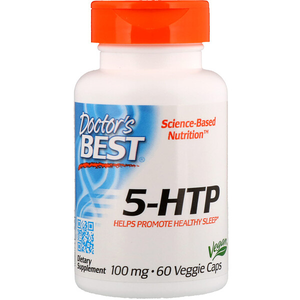 Doctor's Best, 5-HTP, 100 mg, 60 cápsulas vegetales