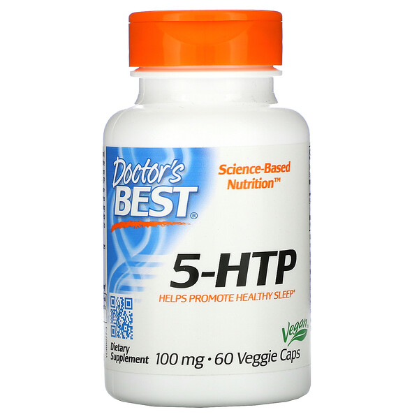 Doctor's Best, 5-HTP, 100 mg, 60 Veggie Caps