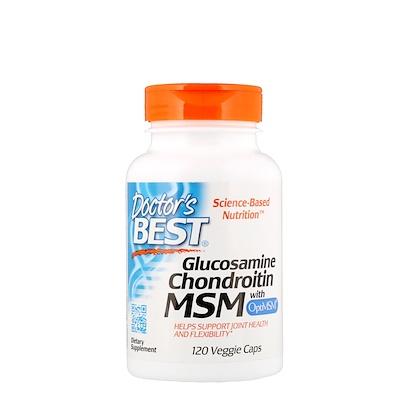Глюкозамин, хондроитин и МСМ с OptiMSM, 120растительных капсул