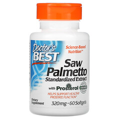 Doctor's Best, Saw Palmetto with Prosterol, Standardized Extract, 320 mg, 60 Softgels