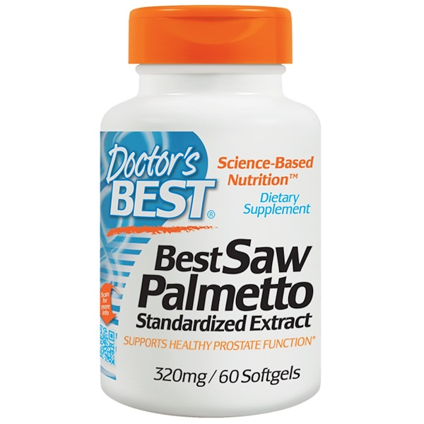 Doctor's Best, Saw Palmetto, Standardized Extract with Euromed, 320 mg, 60 Softgels