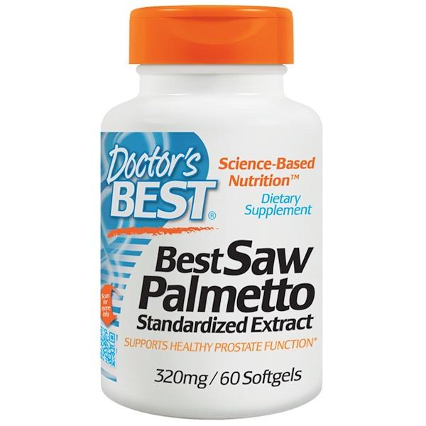 Doctor's Best, 소우 팔미토, Euromed 표준 추출물, 320 mg, 60 소프트 젤