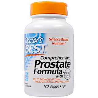 Doctor's Best, Comprehensive Prostate Formula, 120 Veggie Caps