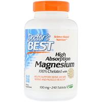 100% хелатированный легкоусвояемый магний с альбионными минералами, 100 мг, 240 таблеток - фото