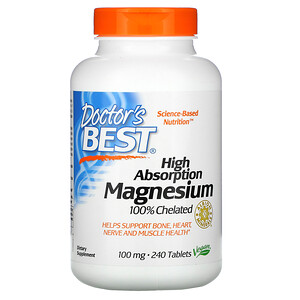 Doctor's Best 高吸収マグネシウム100% 100mg