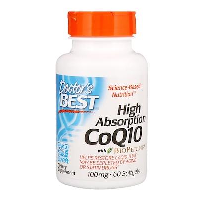 Фото - High Absorption CoQ10 with BioPerine, 100 мг, 60 мягких желатиновых капсул high absorption coq10 with bioperine 100 мг 60 мягких желатиновых капсул