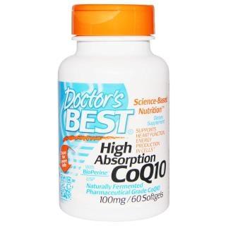 Doctor's Best, 高吸収コエンザエムQ10, バイオペリン配合, 100 mg, 60ソフトゼリー