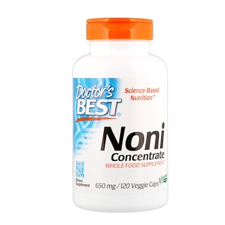 Doctor's Best, Concentrado de noni, 650 mg, 120 cápsulas vegetales