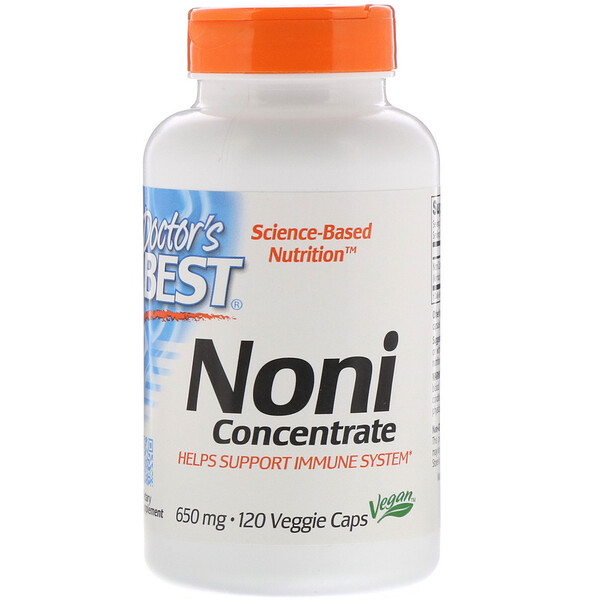 Doctor's Best, Noni Concentrate, 650 mg, 120 Veggie Caps