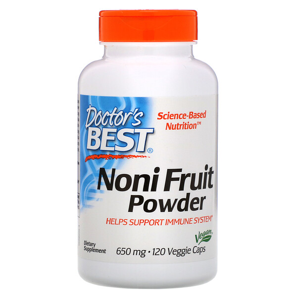 Doctor's Best, Noni Fruit Powder, 650 mg, 120 Veggie Caps