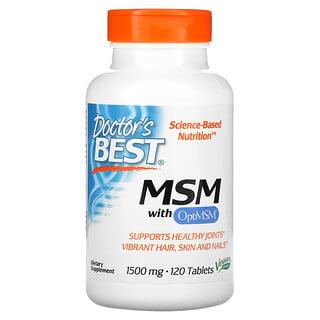 Doctor's Best, МСМ с OptiMSM, 1500мг, 120таблеток