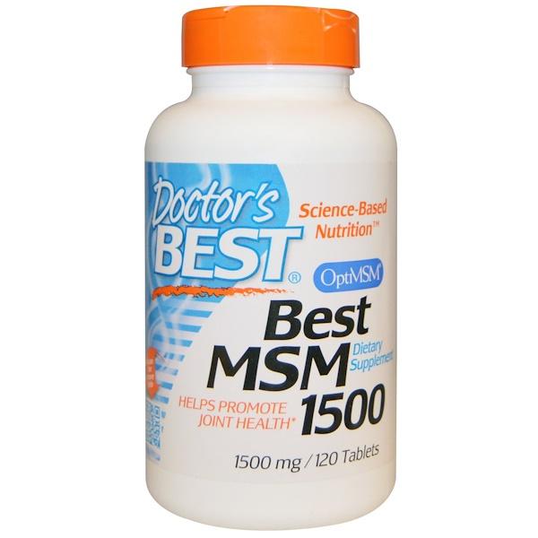 Doctor's Best, Best MSM 1500, 1500 mg, 120 Tabletas