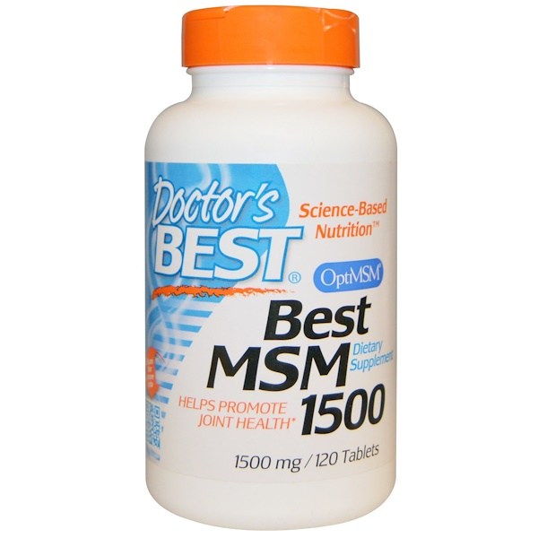 Doctor's Best, ベストMSM1500, 1,500 mg, 120錠