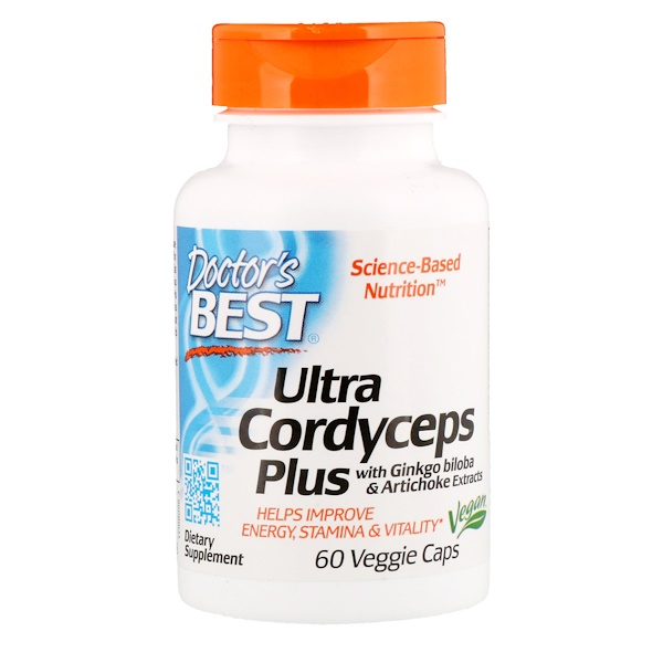 Doctor's Best, Ultra Cordyceps Plus, 60 Cápsulas Vegetarianas
