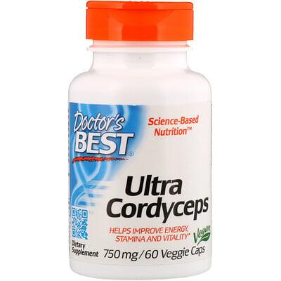 Ultra Cordyceps, 750 мг, 60 растительных капсул спортивная серия бета аланин выносливость 750мг 120растительных капсул