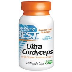 Doctor's Best, Ультра кордицепс, 60 вегетарианских капсул