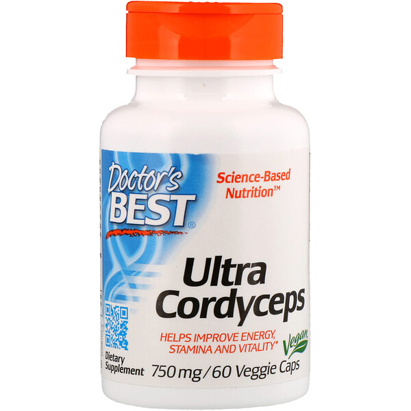 Doctor's Best, Ultra Cordyceps، 750 ملغم، 60 كبسولة نباتية