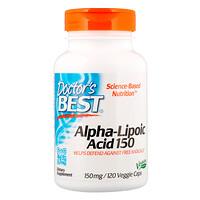Альфа-липоевая кислота Best, 150мг, 120растительных капсул - фото