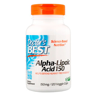 Doctor's Best, Alpha-Lipoic Acid, 150 mg, 120 Veggie Capsules