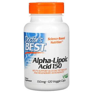 Doctor's Best, альфа-липоевая кислота, 150 мг, 120 растительных капсул