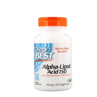 Doctor's Best, El Mejor Ácido Alfa Lipoico, 150 mg, 120 Cápsulas