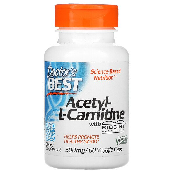 Acetyl-L-Carnitine with Biosint Carnitines, 500 mg, 60 Veggie Caps