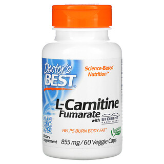 Doctor's Best, L-Carnitine Fumarate with Biosint Carnitines, 855 mg, 60 Veggie Caps